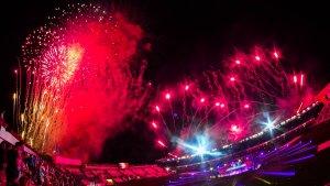 Els focs artificials han tancat la cerimònia.