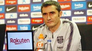 Ernesto Valverde, durant la roda de premsa prèvia al Llevant-Barça