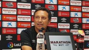 Eusebio Sacristán, en la roda de premsa prèvia al duel contra el Reial Valladolid.