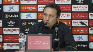 Eusebio Sacristán, en la roda de premsa prèvia al partit del Girona contra l'Athletic.