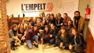 Fotografia del dia d'inauguració de l'Empelt