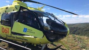 El helicóptero del 061 de Emergencias de Galicia se ha visto obligado a trasladar a un herido