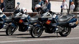 Imagen de archivo de vehículos motorizados de la Policía Nacional