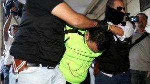 Imagen de la detención por parte de la Policía Nacional de 'El Pollino' en octubre de 2017 por el triple crimen de Dos Hermanas