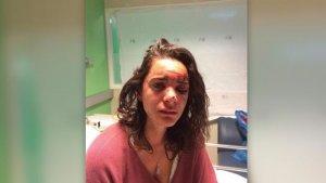 Imagen de la estudiante en dependencias médicas