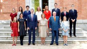 Imagen de la familia real en el 80 cumpleaños de la reina emérita Sofía