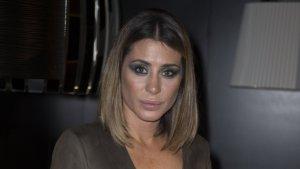 Imagen de la modelo, Elena Tablada, con el vestido