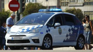 Imagen de un vehículo de la Policía Local de Vigo.