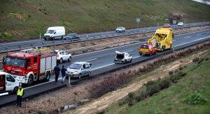 Imagen del accidente de tráfico múltiple en la A-42 en Toledo