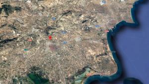 Imagen que muestra la localización del accidente en la A-7