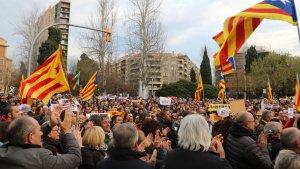 Imatge d'arxiu d'una manifestació independentista a la plaça Imperial Tàrraco.