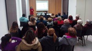 Imatge de la xerrada de la Marató a Rocafort de Queralt