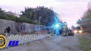 Imatge de l'accident al Camí del Romaní del Vendrell.
