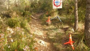 Imatge del control dels Agents Rurals als camins del Priorat