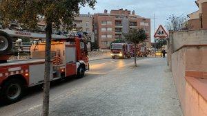 Imatge dels Bombers, al carrer Pere Català i Pic de Valls