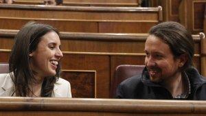 Irene Montero y Pablo Iglesias, líderes de Podemos.