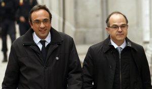 Jordi Turull i Josep Rull, a l'entrada del Tribunal Suprem