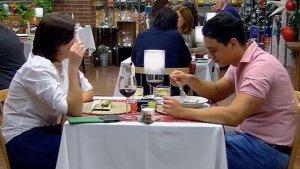 La pareja durante el programa