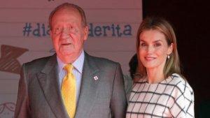 La reina Letizia junto a don Juan Carlos I
