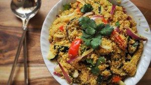 Las ensaladas son unas de las recetas más fáciles con quinoa.