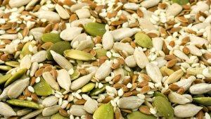 Las semillas de girasol y las de lino son dos de los tipos de semillas más comunes.