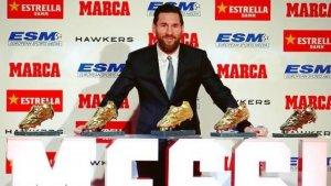 Leo Messi ha rebut aquest dimarts la seva cinquena bota d'or