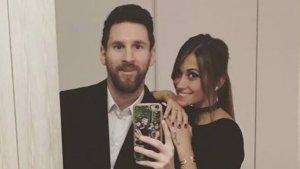 Leo Messi y Antonella Rocuzzo.