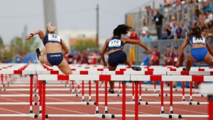 Les imatges de la primera jornada d'atletisme als Jocs Mediterranis a Tarragona
