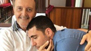 Miguel Ángel Silvestre, junto a su padre