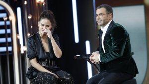 Mónica Hoyos llorando en el plató de 'GH VIP 6' tras su expulsión