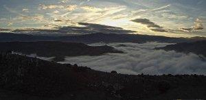 Nieblas sobre el Ebro, desde las montañas riojanas