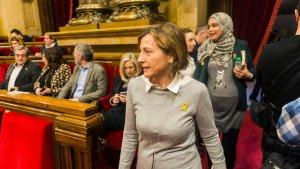 Nova mostra de suport cap a l'expresidenta del Parlament de Catalunya, Carme Forcadell
