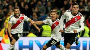 Quintero celebra el seu gol en la tornada de la final de la Copa Libertadores.