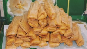 Tamales are usually cooked inside of corn husks or banana leaves.