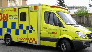 Una ambulancia del 061 Urxencias Sanitarias
