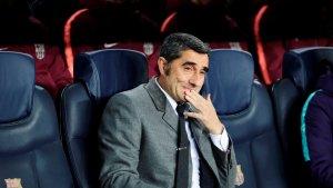 Valverde, durant el Barça-Tottenham.