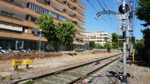 Vies del tren a Salou