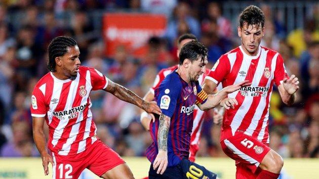 Messi, durant el Barça-Girona del Camp Nou.