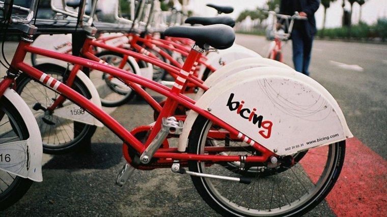 Aparcament de bicicletes del Bicing