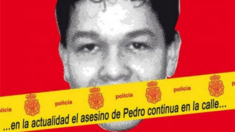 Cartell en memòria de Pedro Álvarez, el jove assassinat a l'Hospitalet de Llobregat