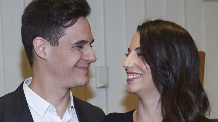 Christian Gálvez y su mujer Almudena Cid