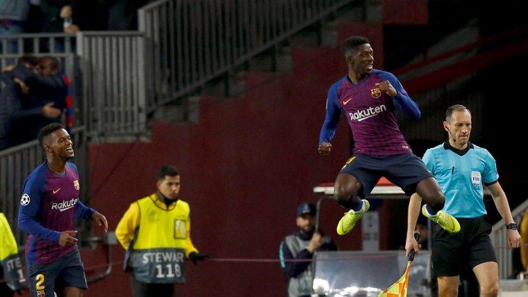 Dembélé celebra el gol marcat contra el Tottenham