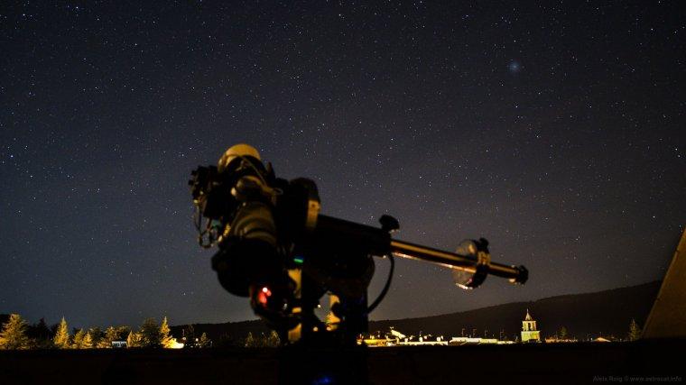 El cometa 46P Wirtanen vist el cap de setmana passat des del poble de Prades