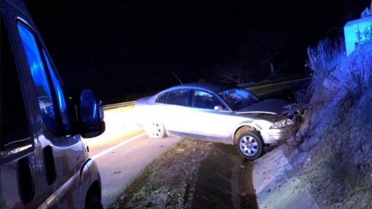 Imagen del estado del vehículo en el accidente en la N-630