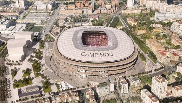 Imatge aèria de l'Espai Barça.