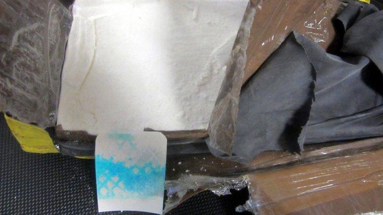 Imatge de la cocaïna interceptada per la Guàrdia Civil al Port