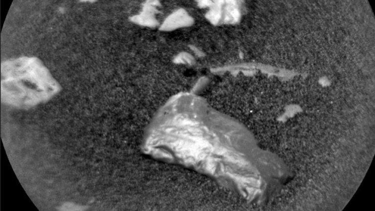 Imatge real enviada des de Mart sobre l'objecte brillant