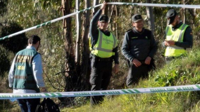 La Guàrdia Civil treballant en el lloc on va ser localitzat el cos de Laura