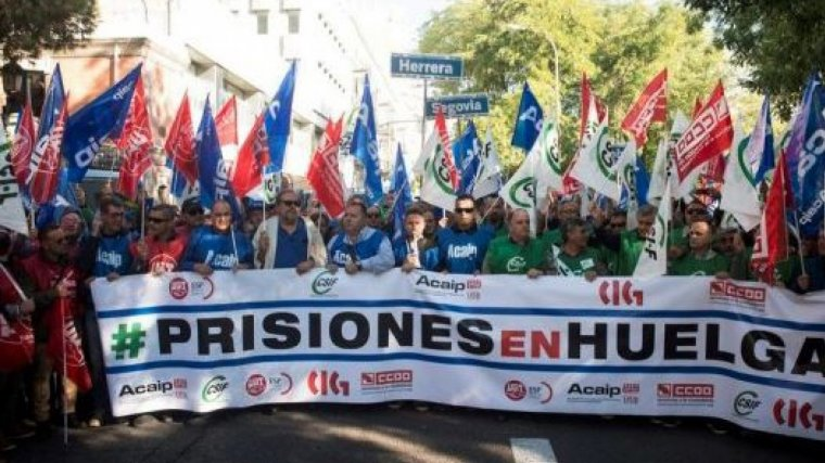 La huelga de funcionarios de prisión está prevista para el martes 11 de diciembre
