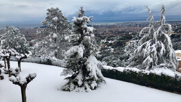 Les nevades van ser freqüents al Tibidabo
